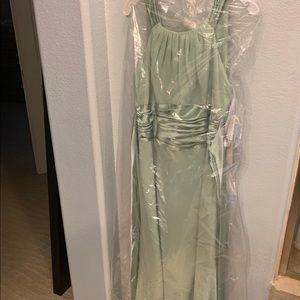 NWT David's Bridal Sage Bridesmaid Dress